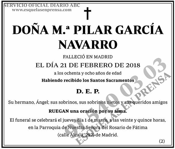 M.ª Pilar García Navarro